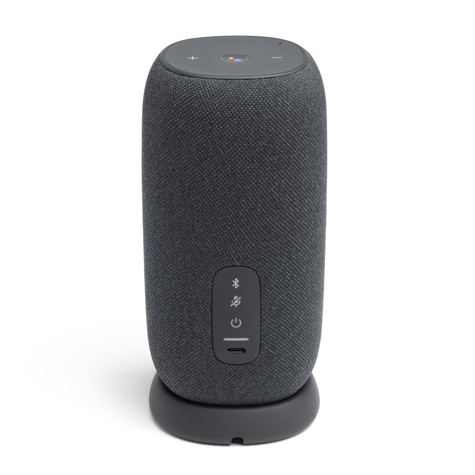 JBL Link Portable - Grey - Portable Wi-Fi Speaker - Back