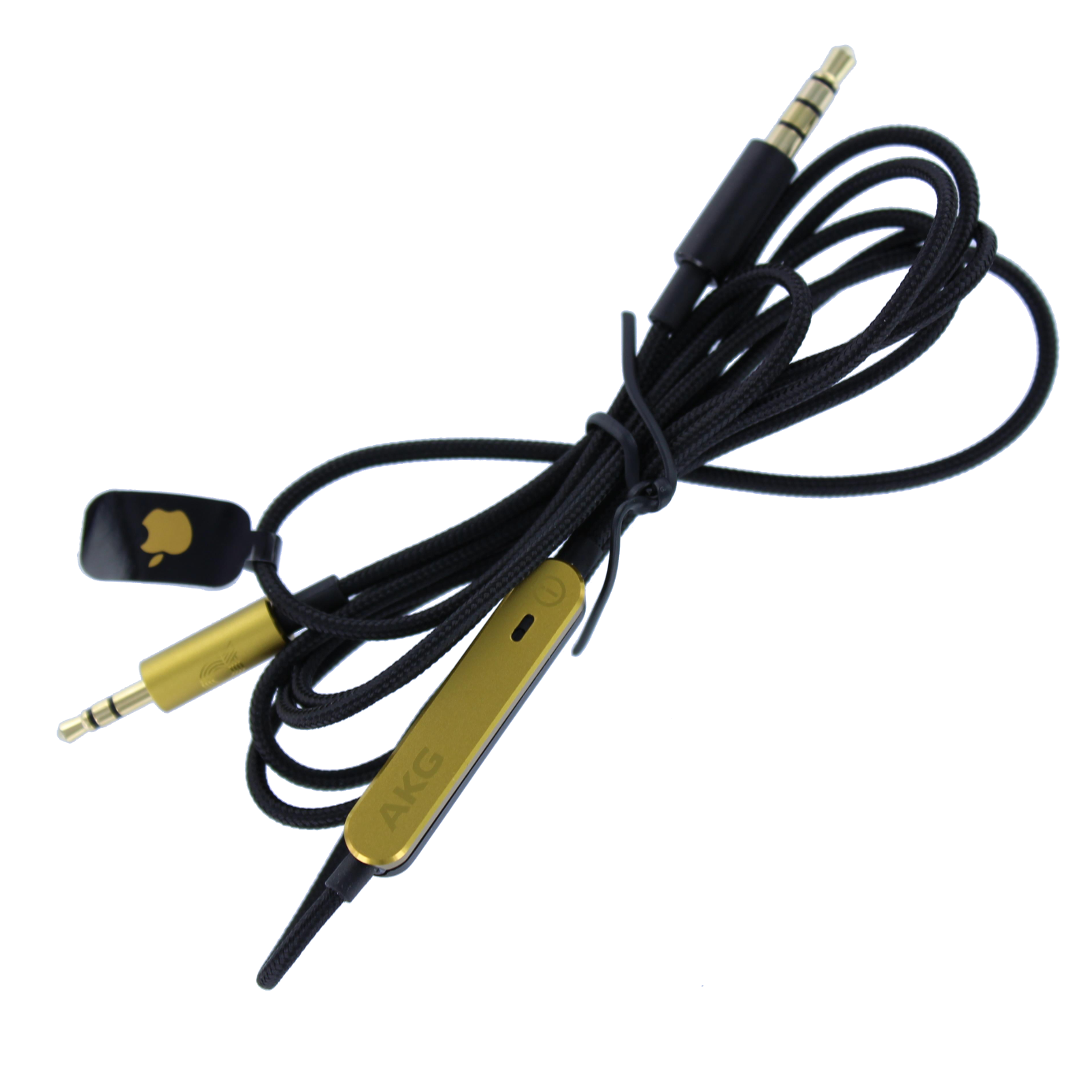 Cable with remote, 120cm, IOS, AKG N90 - Black - Audio cable 120 cm - Hero