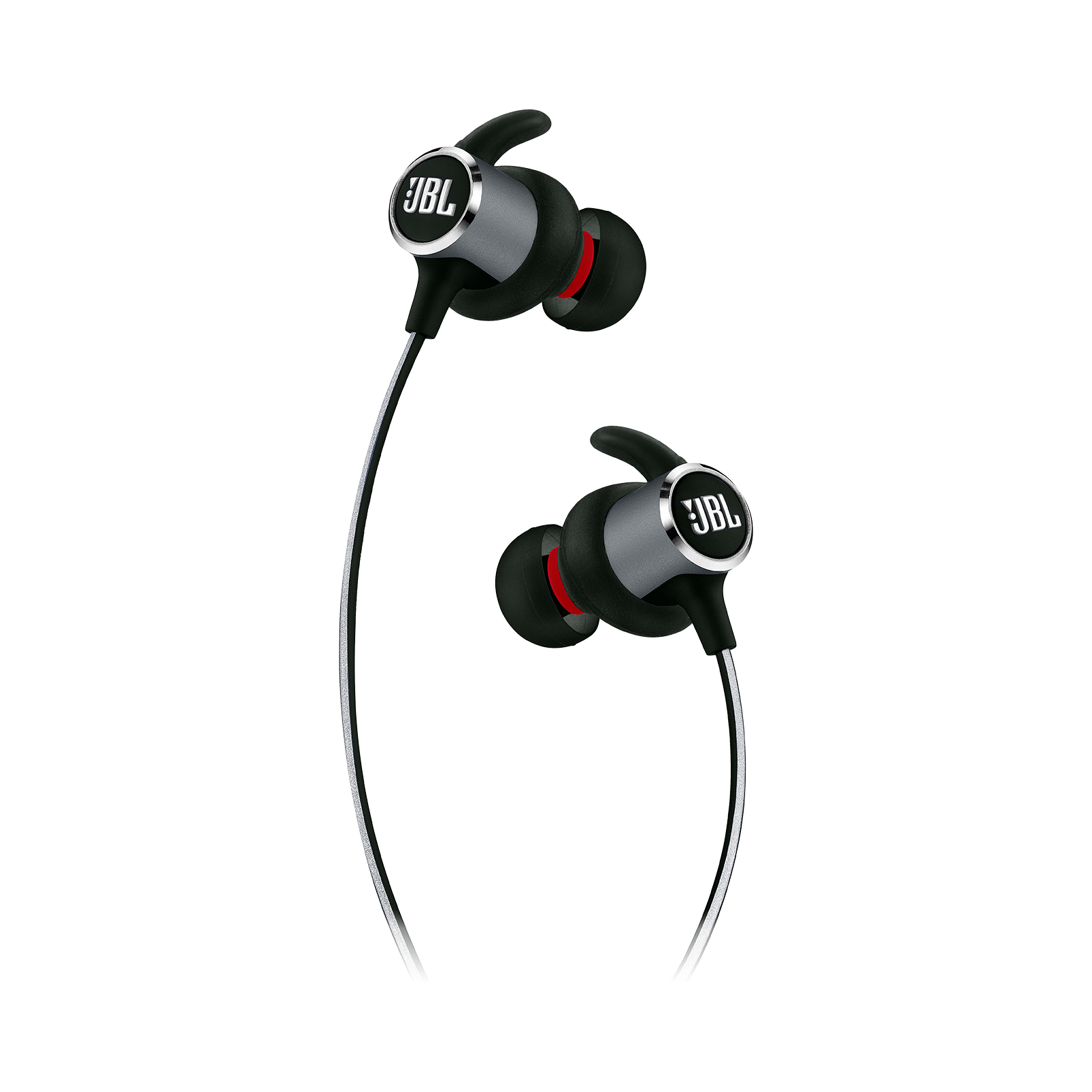 JBL REFLECT MINI 2 - Black - Lightweight Wireless Sport Headphones - Detailshot 2