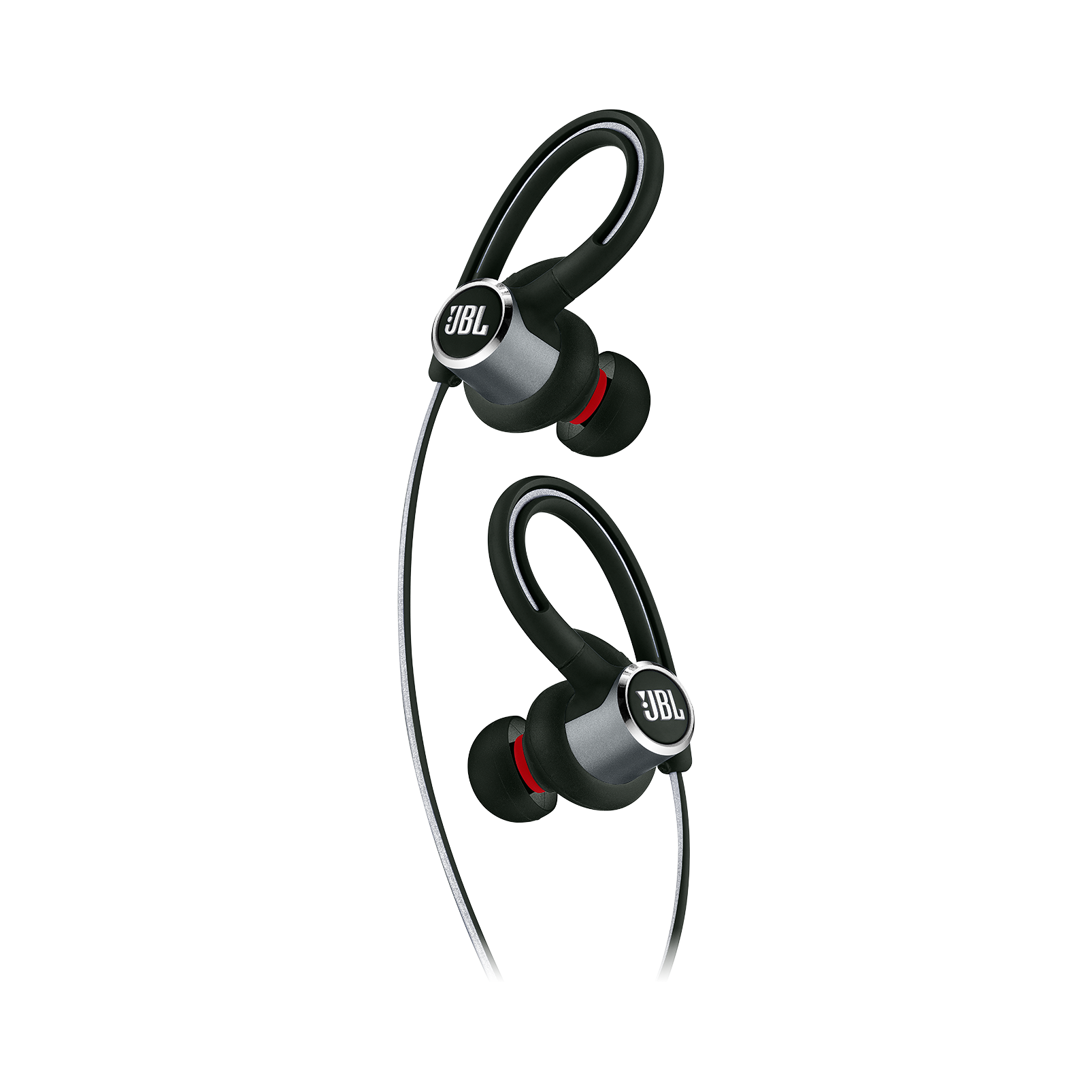JBL Reflect Contour 2 - Black - Secure fit Wireless Sport Headphones - Detailshot 1