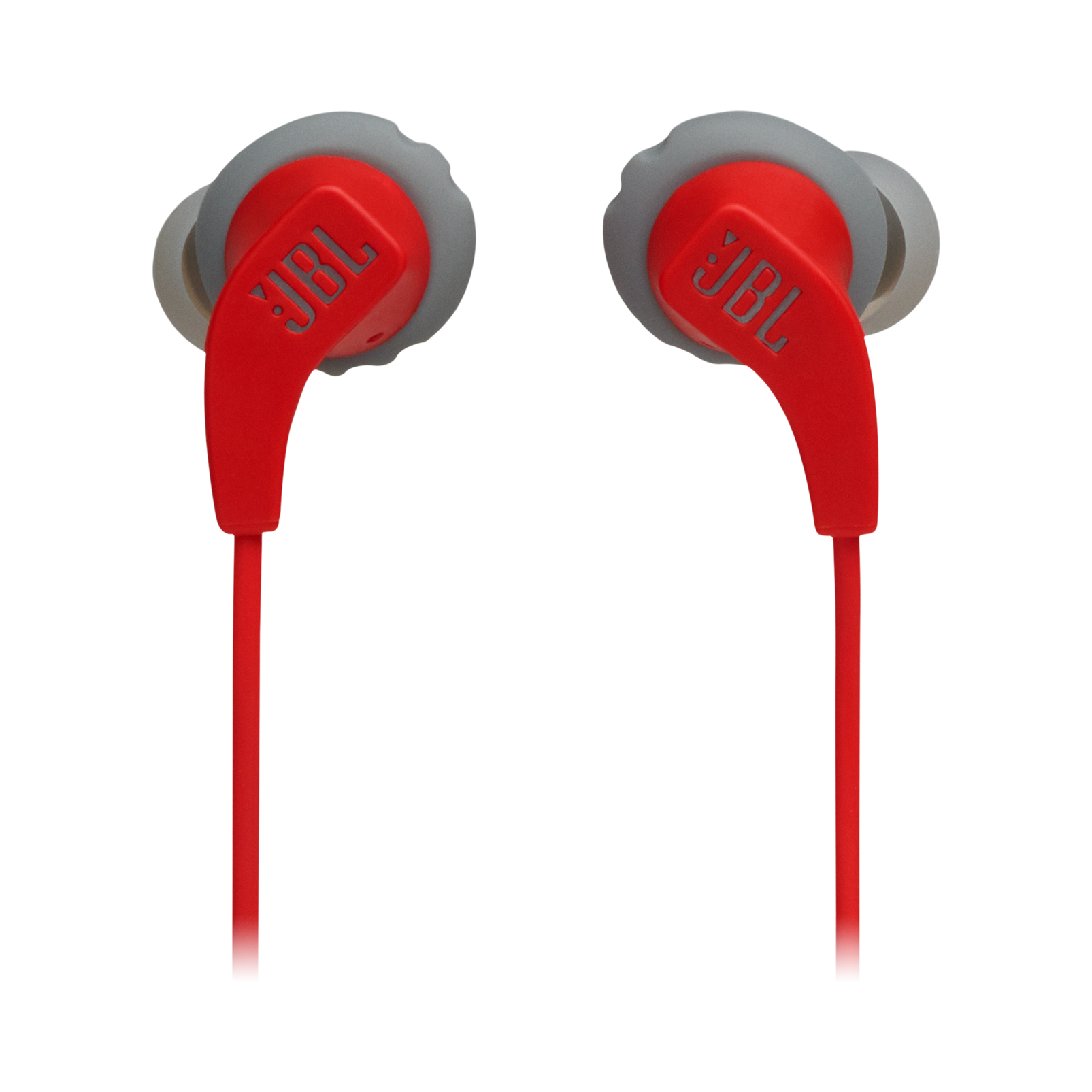 JBL Endurance RUNBT - Red - Sweatproof Wireless In-Ear Sport Headphones - Front