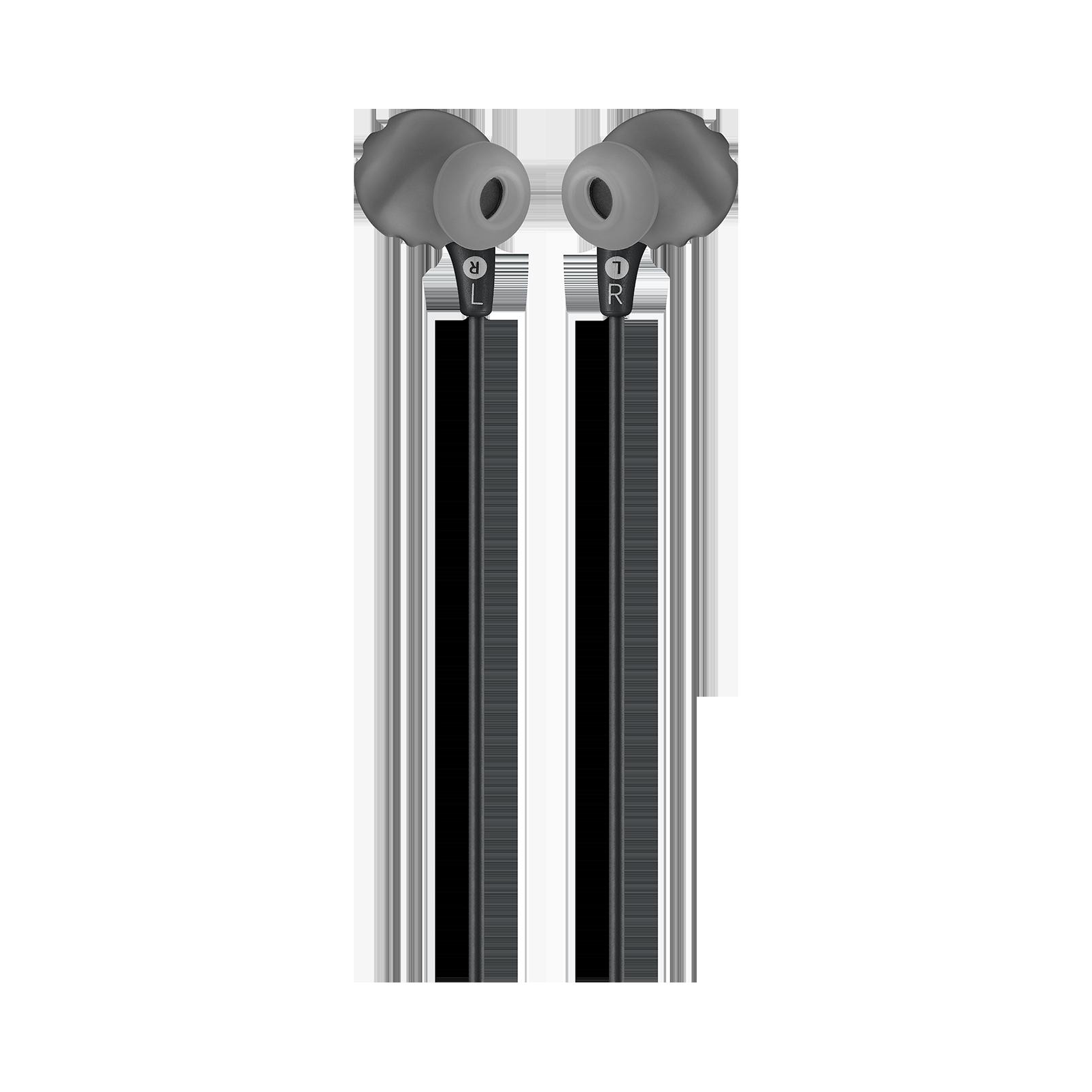 JBL Endurance RUN - Black - Sweatproof Wired Sport In-Ear Headphones - Back