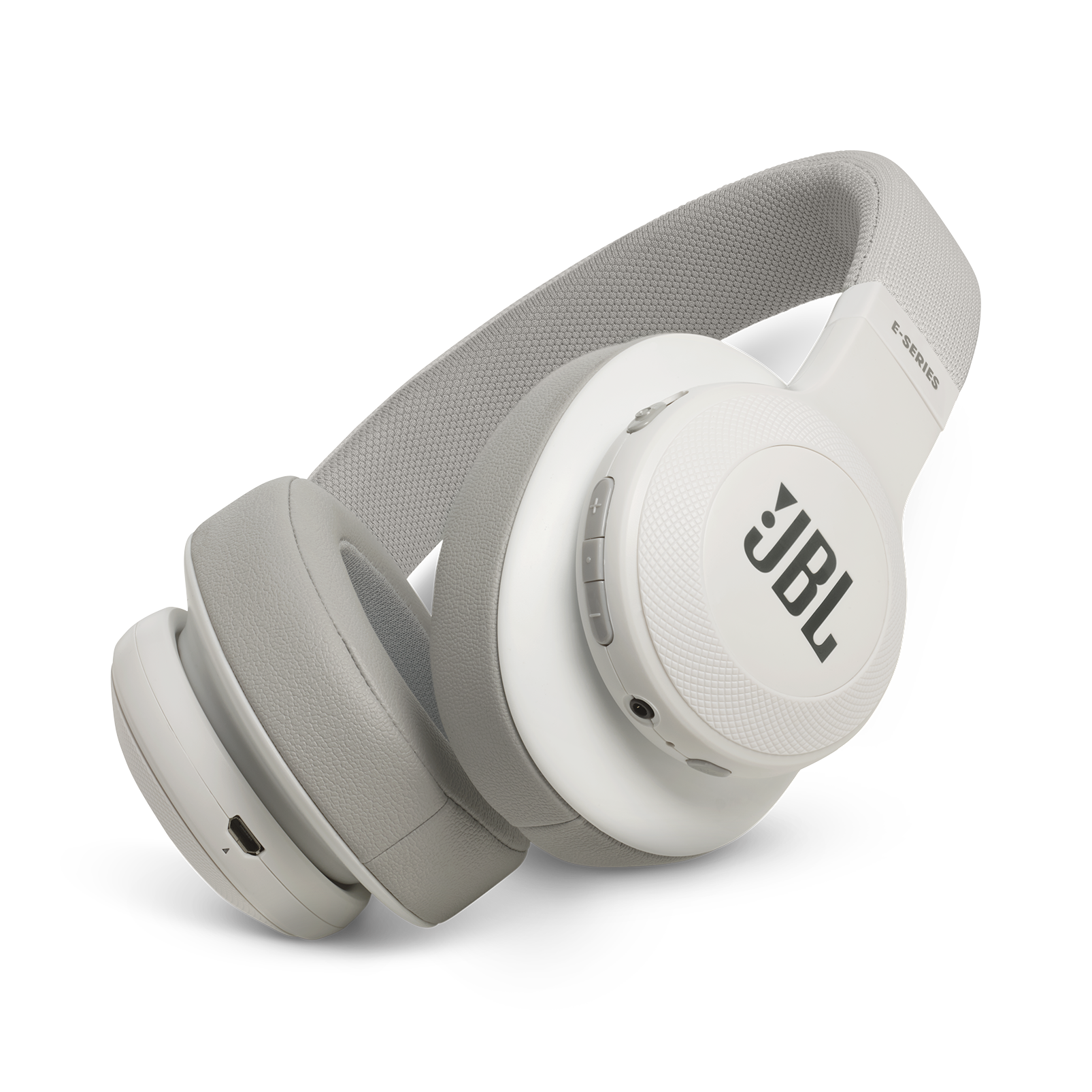 JBL E55BT - White - Wireless over-ear headphones - Hero