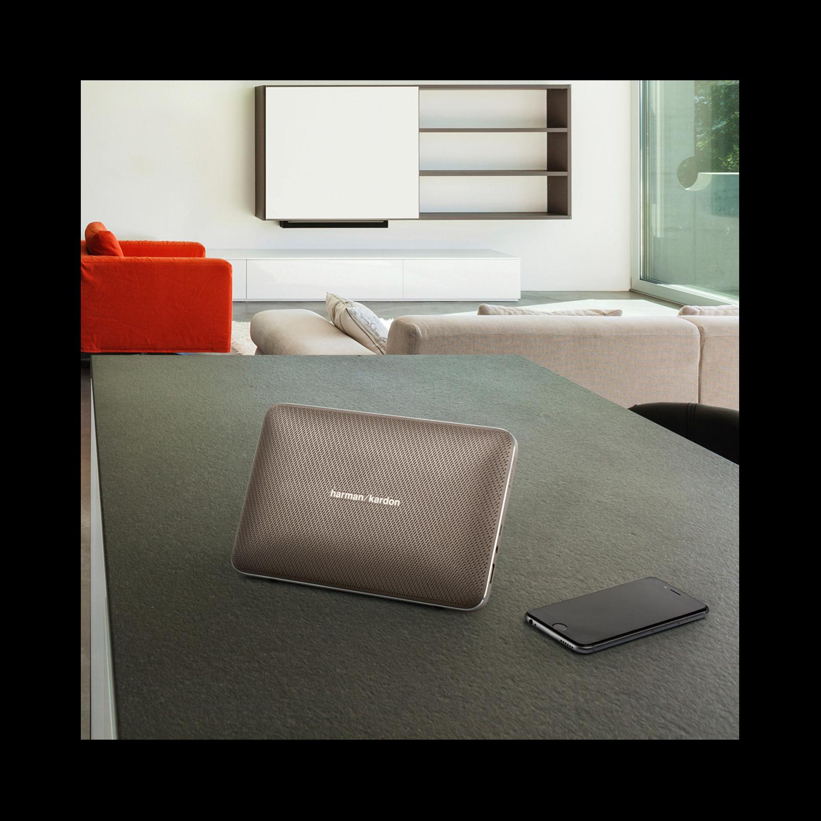 Esquire 2 - Grey - Premium portable Bluetooth speaker with quad microphone conferencing system - Detailshot 7