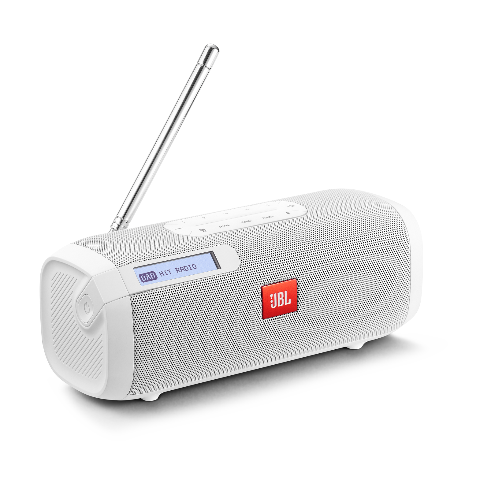 JBL Tuner - White - Portable Bluetooth Speaker with DAB/FM radio - Hero