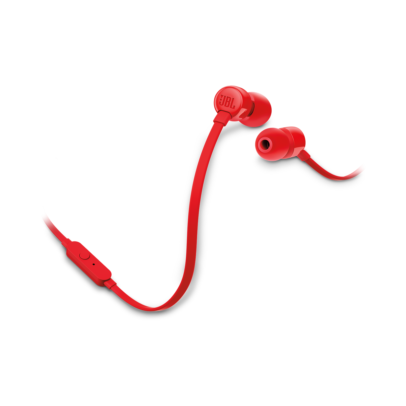 JBL TUNE 110 - Red - In-ear headphones - Hero