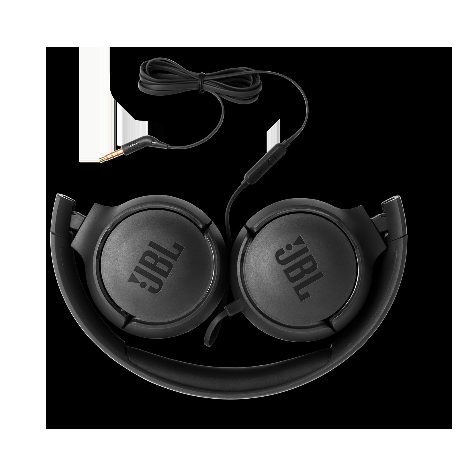 JBL TUNE 500 - Black - Wired on-ear headphones - Detailshot 1